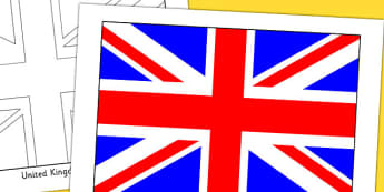 United Kingdom Flag Display Poster - countries, geography