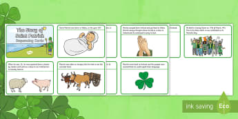 Saint Patrick Story Sequencing Cards - saint patrick, st patrick, st. patrick, st patrick's day,