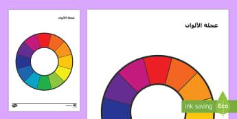 عجلة الآلوان - ألوان،لون،عربي،الألوان، ألوان ثانوية، ألوان أساسية،