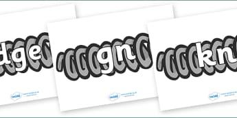 Silent Letters on Springs - Silent Letters, silent letter, letter blend, consonant, consonants, digraph, trigraph, A-Z letters, literacy, alphabet, letters, alternative sounds
