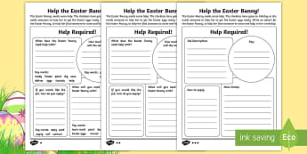 Saving Easter Writing a Job Advert Activity Sheets - Children's Books, children, book, books, story, stories, Twinkl, original, Saving Easter, save, sav