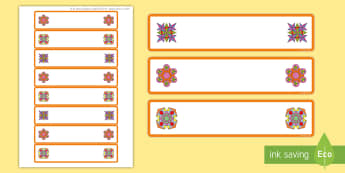 Rangoli Patterns Themed Tray Labels - Rangoli Patterns Themed Tray Labels - rangoli, patterns, template, templates, pattern, rangoli, draw
