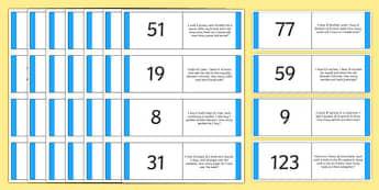 2-Step Word Problem Loop Cards