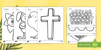 Easter Coloring Sheets US English/Spanish (Latin) - Easter Colouring Coloring Sheets - Easter, colouring poster, colouring, fine motor skills, activity,