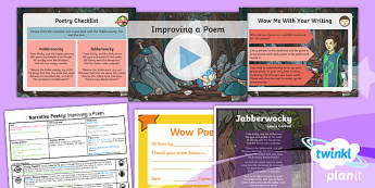 PlanIt Y5 Animals: Jabberwocky Lesson Pack Narrative Poetry (3)