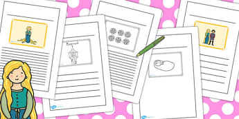 Rapunzel Story Writing Frames - story, writing frames, rapunzel