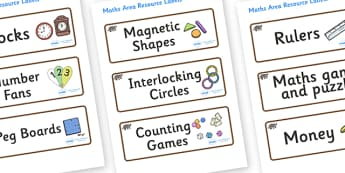 Badger Themed Editable Maths Area Resource Labels - Themed maths resource labels, maths area resources, Label template, Resource Label, Name Labels, Editable Labels, Drawer Labels, KS1 Labels, Foundation Labels, Foundation Stage Labels, Teaching Labe
