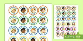 School Role Play Stickers Afrikaans/English - School Role Play Stickers - School Role Play Pack, school role play, register, teacher, stickers, ce