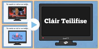 Cláir Teilifís Television Programmes PowerPoint Quiz Irish Gaeilge - Gaeilge, Irish, television, T.V., quiz, programmes