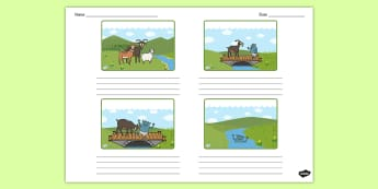 The Three Billy Goats Gruff Storyboard Template - storyboard