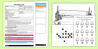 Roll the Dice Frog Counting Game EYFS Adult Input Plan and Resource Pack - EYFS, Early Years planning, adult led, life cycle, counting game.
