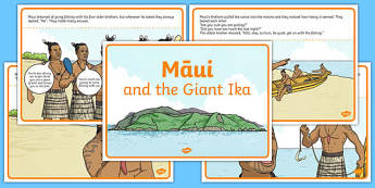 Māui and the Giant Ika Story
