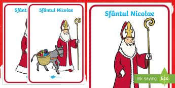 Sfantul Nicolae Planșă - Sfântul Nicolae, Sfantul Nicolae, Moș Nicolae, Nicolae, planșă, de afișat, de perete, materiale