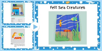 Felt Sea Creatures Picture Craft Instructions PowerPoint - craft