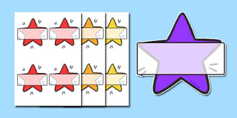Self Registration Stars - self registration, self-registration, editable, editable labels, editable self registration labels, stars, christmas stars, star, self reg star, labels, registration, child name label, name label, register