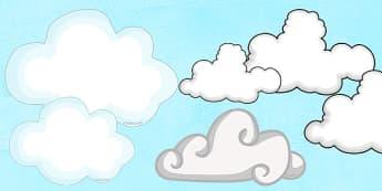 Cloud Cut Outs - cloud, cut outs, cut, stick, display, sky