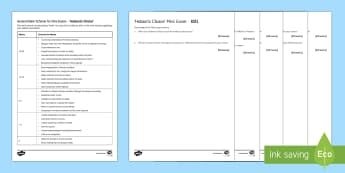 Hobson's Choice Mini Exam Pack - Hobson's Choice, Harold Brighouse, Henry Hobson, Maggie Hobson, Willie Mossop, social class, ambiti