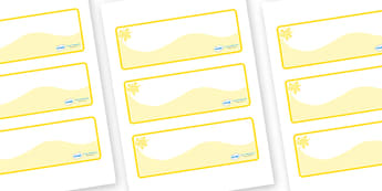 Yellow Themed Editable Drawer-Peg-Name Labels (Colourful) - Themed Classroom Label Templates, Resource Labels, Name Labels, Editable Labels, Drawer Labels, Coat Peg Labels, Peg Label, KS1 Labels, Foundation Labels, Foundation Stage Labels, Teaching L