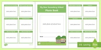 My New Secondary School Photo Book - secondary, school photo