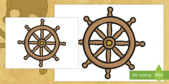 Pirate Ship Wheel Large Display Poster - helm, pirates, sea, boat wheel, role play, dressing up
