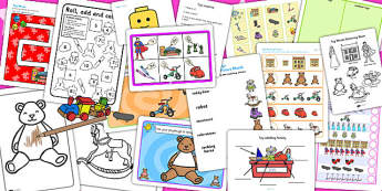 Toys Activity Pack - activities, classroom activities, games
