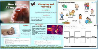 How Humans Change as They Grow PowerPoint Teaching Pack - growth
