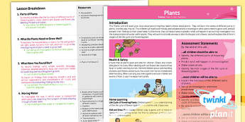 PlanIt - Science Year 3 - Plants Planning Overview - planit