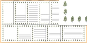 Birch Tree Themed Page Borders - birch tree, themed, page borders, page, borders, birch, tree