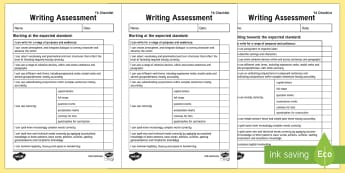 Y6 'I Can' Writing Assessment Checklist-Australia - English, writing, text types, assessment ,Australia