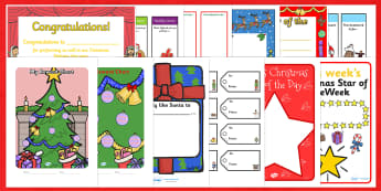 Christmas Gift Certificates and Rewards Resource Pack - xmas