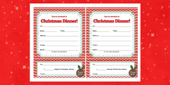 Christmas Dinner Party Invitations - festivities, celebrate