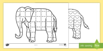 Patterns Colouring Sheets to Support Teaching on Elmer - Elmer, Elmer the elephant, resources, Elmer story, patchwork elephant, PSHE, PSE, David McKee, colours, patterns, story, story book, story book resources, story sequencing, story resources, Elm