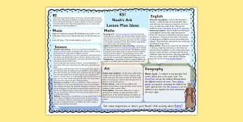 Noahs Ark Lesson Plan Ideas KS1 - noahs ark, RE, religion, KS1
