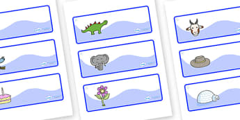 Snowflake Themed Editable Drawer-Peg-Name Labels - Themed Classroom Label Templates, Resource Labels, Name Labels, Editable Labels, Drawer Labels, Coat Peg Labels, Peg Label, KS1 Labels, Foundation Labels, Foundation Stage Labels, Teaching Labels