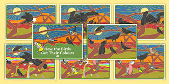 How the Birds Got Their Colours Story Sequencing Cards-Australia