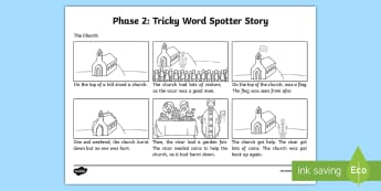 'ur' Phoneme Spotter Story  - common exception words, spelling, grapheme,EYFS, Reception, Year One, Year Two, Year 1, Year 2, KS1,