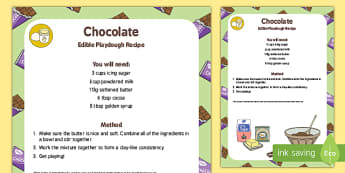 Edible Chocolate Playdough Recipe