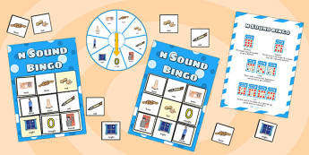 n Sound Bingo Game with Spinner - n, sound, sounds, bingo, game