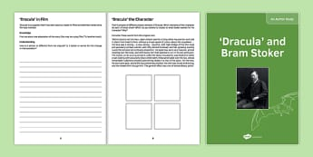 Author Study: Bram Stoker and Dracula - KS3, KS4, Dracula, Bram Stoker, Author Study, Biography, reading