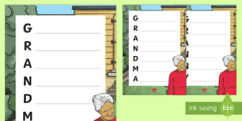 Granny/Grandma Acrostic Poem - Grandparent's Day Pack, grandparents, family, granny, grandma, poetry, acrostic, acrostic poem ,Iri