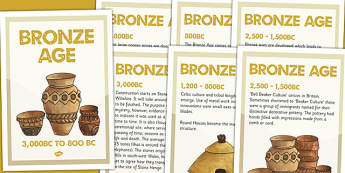 Bronze Age Timeline Posters - bronze age, timeline, history