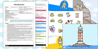 Story Telling EYFS Adult Input Plan and Resource Pack to Support Teaching on The Lighthouse Keeper's Lunch