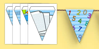Maths Bunting - maths, numeracy, numbers, bunting, maths display