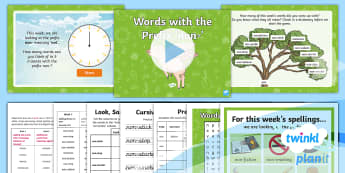 PlanIt Spelling Year 4 Term 3A W5: Adding the Prefix Non- Spelling Pack - Spellings, Year 4, Term 3A, W5, prefixes, non-, word families