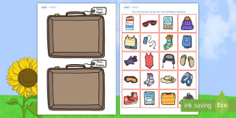 Holiday Clothes Sorting Activity - activity, game, fun, clothes, sorting clothes, packing, what to pack, sort clothes, sorting activity, fun activity, fun game, learning, play