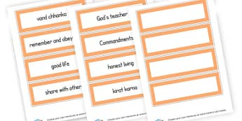Sikhism Vocab Word Cards - KS2 Sikhism Visual Aids Primary Resources, Religion, Sikhism, RE