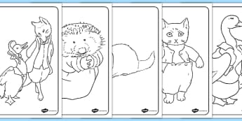 Beatrix Potter Colouring Pages - beatrix potter, author, colouring, pages, colour