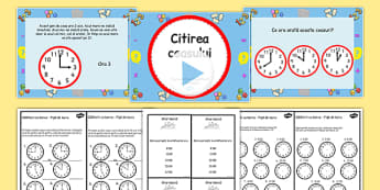 Telling the Time Boat Trip Times PowerPoint Task Setter Romanian - romanian, telling the time, clocks, time telling, boat trips, time telling task setter, boat timetables