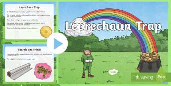 Leprechaun Trap PowerPoint - ROI- Leprechaun Trap, Art, Design, Construction, Aistear, Leprechaun, Trap, ,Irish