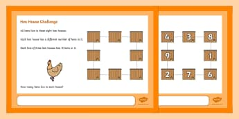 Hen House Maths Challenge A4 Display Posters - Maths, Challenge